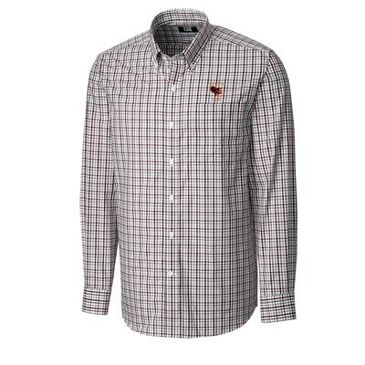 Virginia Tech Cutter And Buck Vault Logo Gilman Plaid Woven