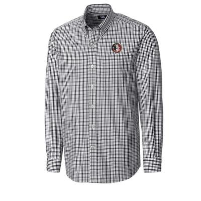 Florida State Cutter And Buck Vault Gilman Plaid Woven