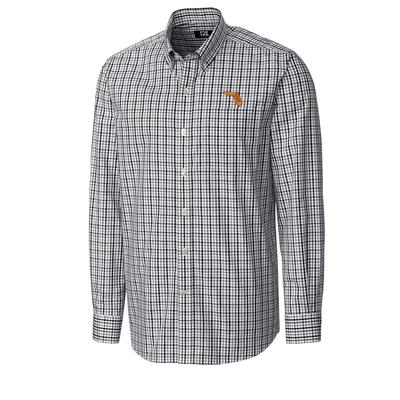 Florida State Cutter And Buck Vault Logo Gilman Woven Button Down