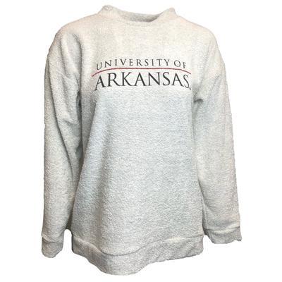 Arkansas Women's Woolly Threads Bar Logo Sweatshirt