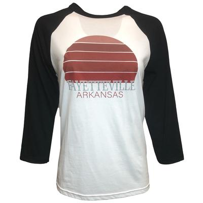 Fayetteville Women's Sunset City Long Sleeve Baseball Tee