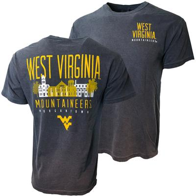 West Virginia Morgantown Cityscape Comfort Colors Tee
