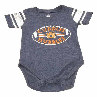 Auburn Infant Sleeve Stripe Cuddles and Huddles Onesie