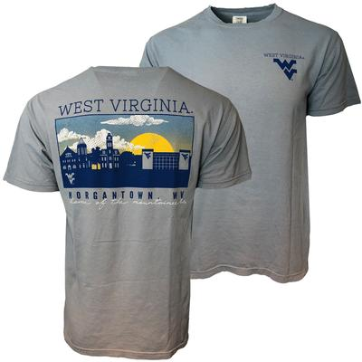 West Virginia Comfort Colors Morgantown Skyline Tee