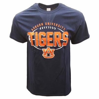 Auburn Basic Football Outline Tee