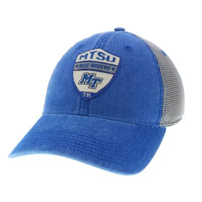 MTSU Raised Shield Meshback Adjustable Hat