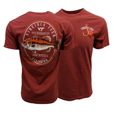 Virginia Tech Comfort Colors Oval Fish T-Shirt