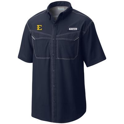 ETSU Columbia Low Drag Off Shore Short Sleeve Woven Shirt