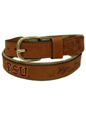 Florida State Embroidered Leather Belt