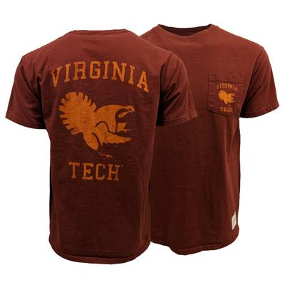 Virginia Tech Fighting Gobbler Retro Pocket T-Shirt