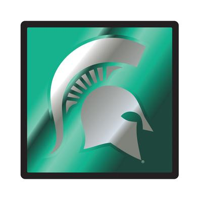 Michigan State Domed Spartan Hitch Cover 2