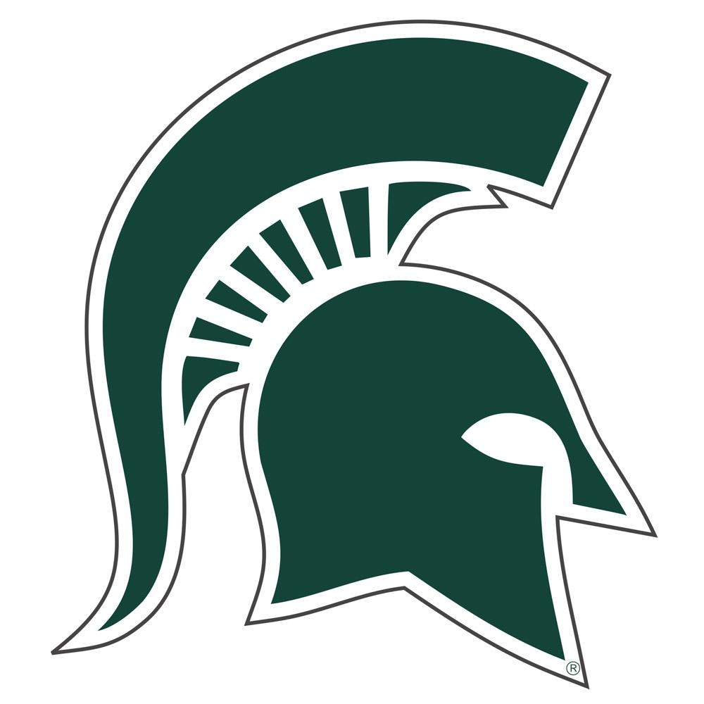 Michigan State Reflective Spartan Head Decal 4