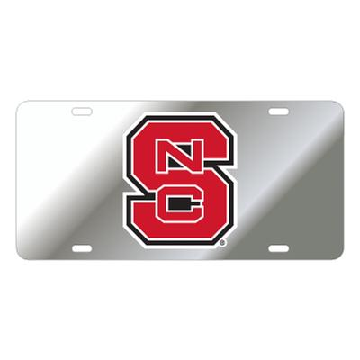 NC State Logo Reflective License Plate