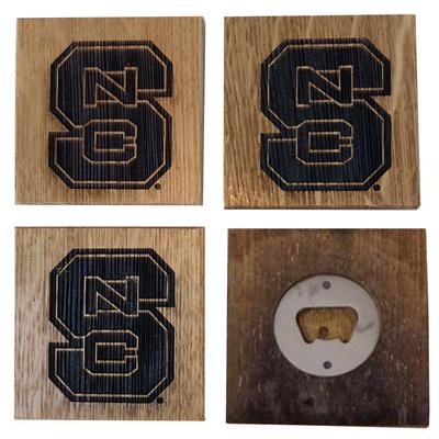 NC State Timeless Etchings Coasters with Bottle Openers