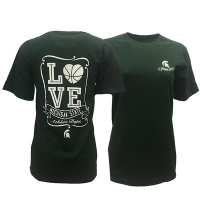 Michigan State Heart Basketball Tee