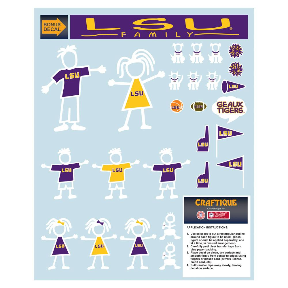 Lsu Family Decal Sheet