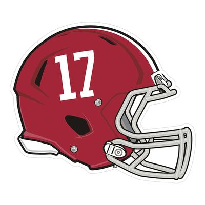 Alabama #17 Helmet Decal 6