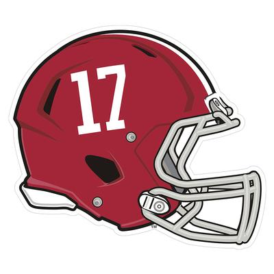 Alabama #17 Helmet Decal 4