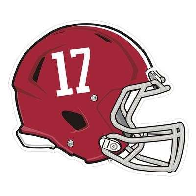 Alabama #17 Helmet Decal 3