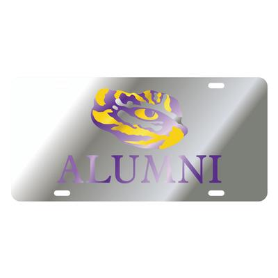 LSU License Plate Silver Alumni