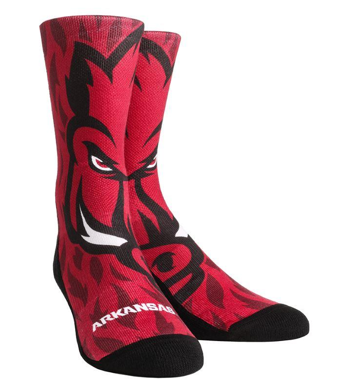 Arkansas Rock ' Em Mascot Series Crew Socks