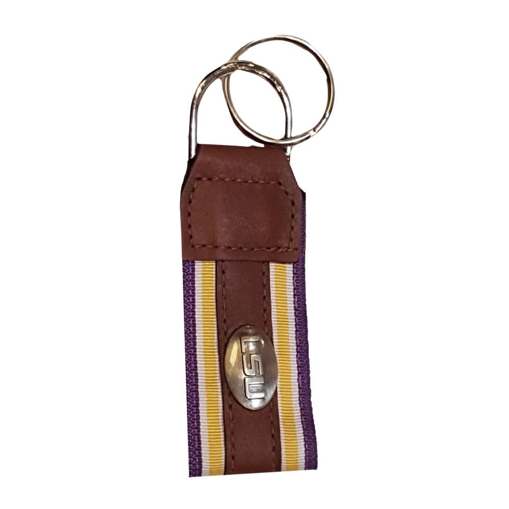 Lsu Leather Logo Key Chain