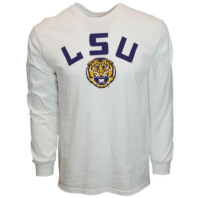 LSU Arch Logo Long Sleeve Tee WHITE