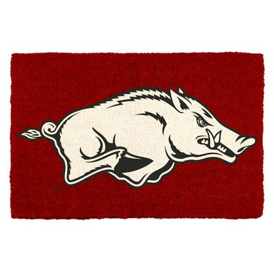 Arkansas Running Hog Door Mat