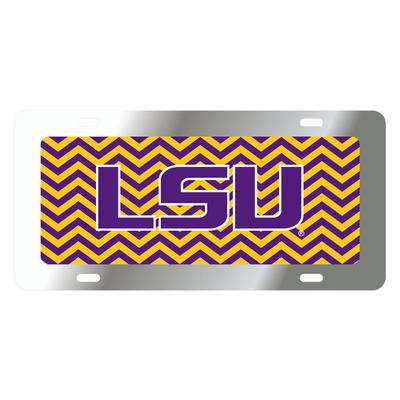 LSU License Plate Chevron LSU Logo