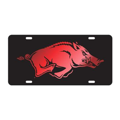 Arkansas Running Hog Red/Black License Plate