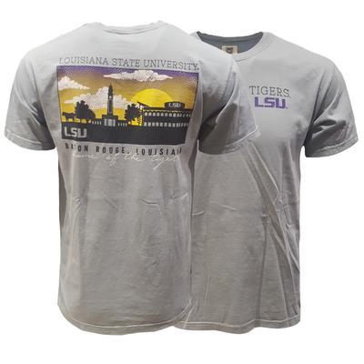 LSU Comfort Colors Baton Rouge Skyline Tee
