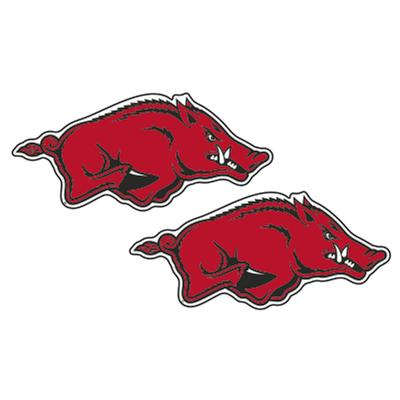 Arkansas 2 Inch Razorback Logo Decals (2 Pack)