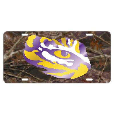 LSU License Plate Camo Tiger Eye