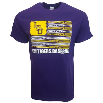 LSU Bat Flag Short Sleeve Tee
