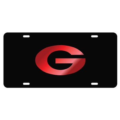 Georgia Power G Red Logo License Plate
