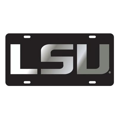 LSU License Plate Black/Silver LSU Logo