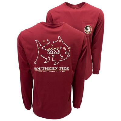 Florida State Southern Tide Long Sleeve Skipjack Play Tee