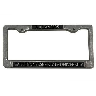 ETSU Pewter Metal License Plate Frame