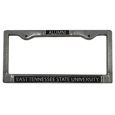 ETSU Pewter Metal Alumni License Plate Frame