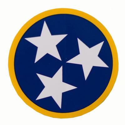 Volunteer Traditions Navy and Gold Tristar Decal