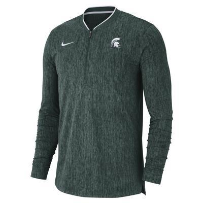 Michigan State Nike Coaches 1/2 Zip Pullover
