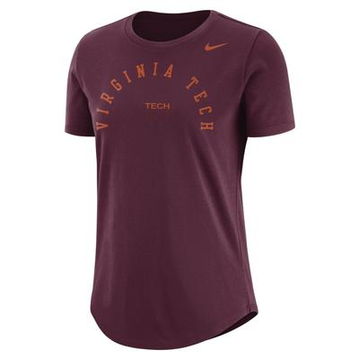Virginia Tech Nike Women's Elevated Cotton Tee
