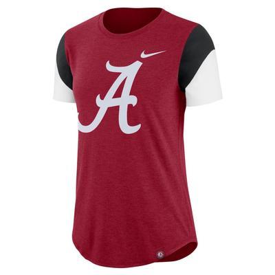Alabama Nike Women's Tri-Blend Fan Crew Top
