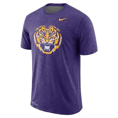 LSU Nike Dri-FIT Cotton Sideline Slub Tee