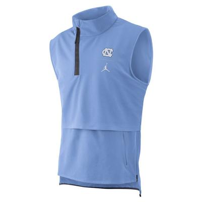 UNC Jordan Brand Jump Tech 1/4 Zip Sleeveless Jacket
