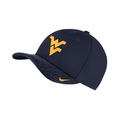 West Virginia Nike Areobill Classic 99 Swooshflex Sideline Cap
