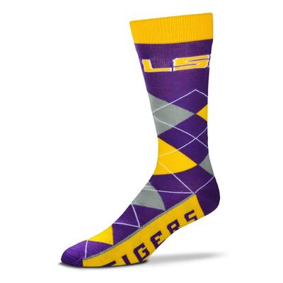 LSU FBF Originals Men's Argyle Socks