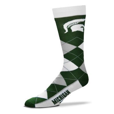 Michigan State FBF Originals Men's Argyle Socks