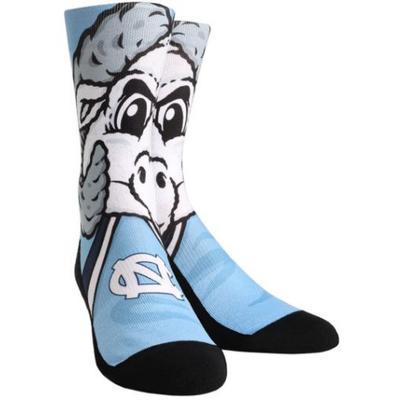 UNC Rock'em Mascot Series Crew Socks