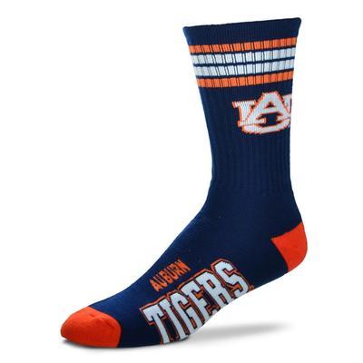 Auburn 4 Stripe Deuce Socks